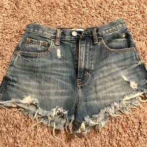 Hollister High-Rise Cutoff Shorts
